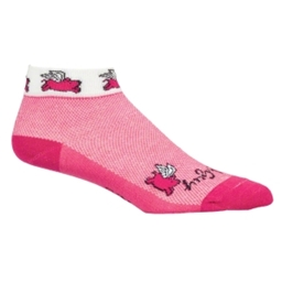 SockGuy Flying Pigs: Pink; SM/MD