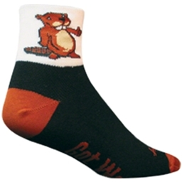 SockGuy Beaver Sock: Brown/Black