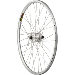"Quality Wheels Pavement Series 7, Front 26"" Deore LX Dynamo Mavic XM317 Silver"