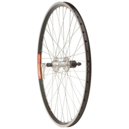 "Quality Wheels Rear 26"" Shimano HF08 Tandem Silver 40h,Velocity Aeroheat Black,2.0-1.8 Silver, Br, 4x"