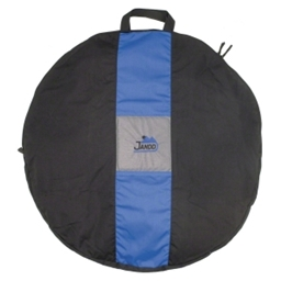 Jandd Wheel Bag: 1-Wheel Capacity; Black/Blue