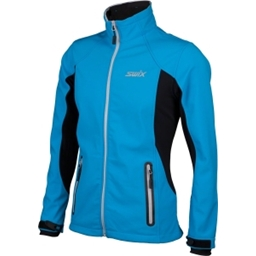 Swix Women's Corvara Ski Jacket: Pacific Vapor Blue