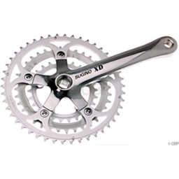 Sugino XD600 165mm 26-36-46 74/110 7/8 Speed Crankset; Bottom Bracket Not Included