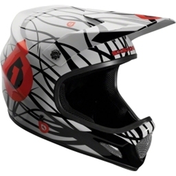 SixSixOne Evolution Inspiral Helmet: Black/Red