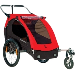 Burley Honey Bee Child Trailer: Black/Red
