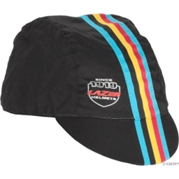 Lazer Cycling Cap: Black with Belgian Stripes; LG/XL