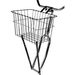 Wald 198GB Front Basket with Adjustable Leg: Black