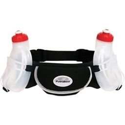 FuelBelt Wachusett Hydration Belt with Two 10oz Bottles: Black; One Size