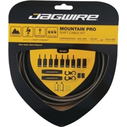 Jagwire Mountain Pro Derailleur Kit, Carbon Silver
