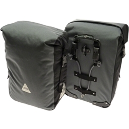 Axiom Typhoon Aero DLX Waterproof Pannier Set: Gray/Black