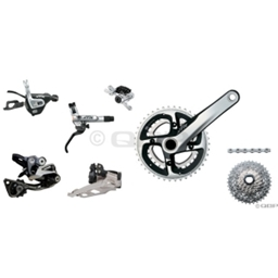 2013 Shimano XTR XCR 2x10 Kit-In-A-Box 175mm 40/28t 11-36 Rotors Not Included
