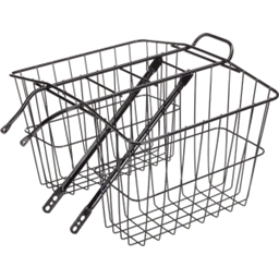 Wald 520 Rear Twin Carrier Basket: MD; Gloss Black