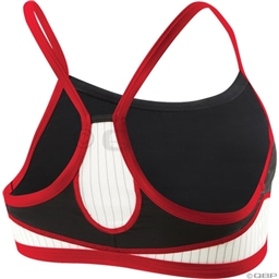 TYR Women's Carbon Thin Strap Tri Top: Black/Red