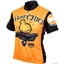 World Jerseys Biker Chick Cycling Jersey: Orange; XL