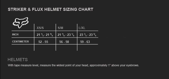 Fox Helmet Sizing Modern Bike